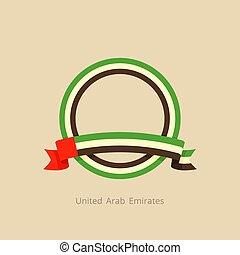 ενωμένος , άραβας , σημαία , emirates , κύκλοs , ταινία