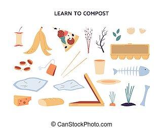 ενόργανος , θέτω , composting., μικροβιοφορέας , διαμέρισμα , σπατάλη , εικόνα