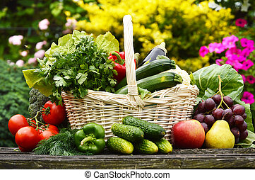 ενόργανος , κήπος , βέργα λυγαριάς , λαχανικά , ...