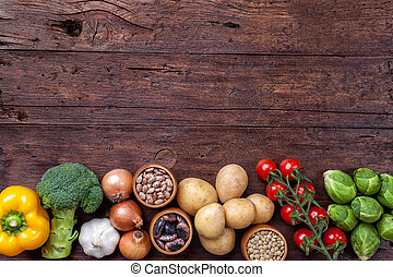 ενόργανος , συστατικό , τροφή , λαχανικά , υγιεινός , φρέσκος