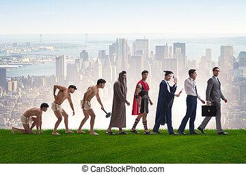 εξέλιξη , από , άντραs , ανθρώπινο γένος , από , αρχαίος ,...