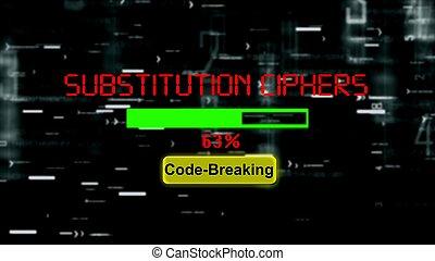 εξέλιξη μπαρ , αθετώ , κρυπτογράφημα , ciphers, substitution
