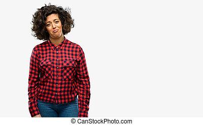 εξαίσιος γυναίκα , έκφραση , αναποδογυρίζω , ατυχής , άθυμος , άραβας
