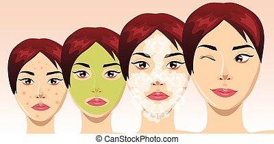εξαίσιος γυναίκα , διαδικασία , ακμή , ζεσεεδ , μεταχείρηση , μικροβιοφορέας