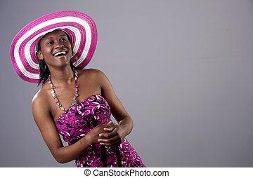 εξαίσιος γυναίκα , νέος , άκεφος , ευφυής , αφρικανός , νότιο