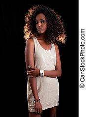 εξαίσιος γυναίκα , νέος , αφρικανός
