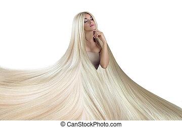 εξαίσιος γυναίκα , ομορφιά , μακριά , πολυτελής , hair.