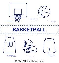 εξοπλισμός , αθλητισμός , basketball., ομοειδής