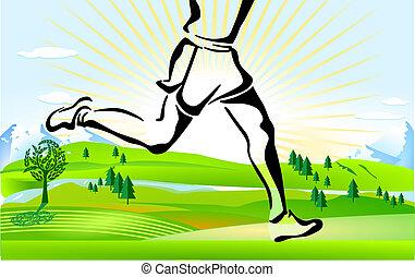 εξοχή , τρέξιμο , σταυρός