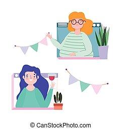 εορτασμόs , website , γενέθλια , γυναίκεs , ή , online , διακόσμηση , συνάντηση , πάρτυ , φίλοι