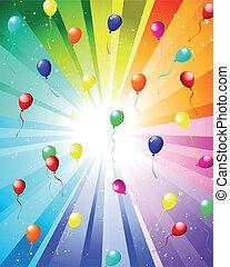 εορταστικός , χρώμα , ακτίνα