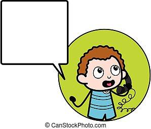 επάγγελμα , κελί , παιδί , τηλέφωνο , γελοιογραφία