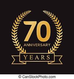 επέτειος , 70th, χρυσός , χρόνια