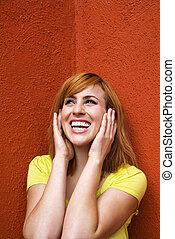 επίστρωση , γυναίκα , αυτιά