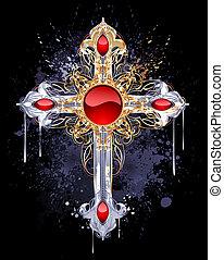 επίχρυσος , σταυρός