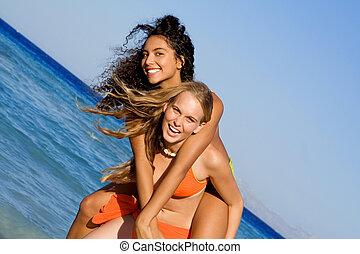 επί της ράχεως , δεσποινάριο , επάνω , παραλία , ακμή άδεια , ή , γιορτή , ή , σε , άλμα αθετώ