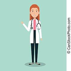 επαγγελματίας γυναίκα , avatar, γιατρός