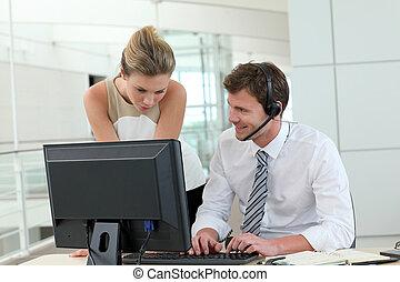 επαγγελματική επέμβαση , άνθρωποι , desktop , αντιμετωπίζω , συνάντηση