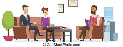 επαγγελματική επέμβαση , άνθρωποι , room., τσάι , μοντέρνος , σπάζω , αναμονή , μικροβιοφορέας , γράμμα , εσωτερικός , υποδοχή , κάθονται , προθάλαμος