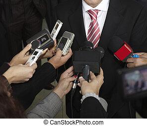 επαγγελματική συνάντηση , συνέδριο , δημοσιογραφία , μικρόφωνο