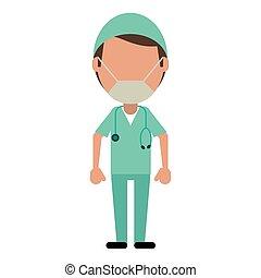 επαγγελματικός , χειρουργός , αρσενικό , ιατρικός