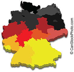 επαρχία , χάρτηs , γερμανία