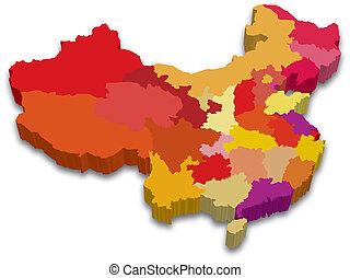 επαρχία , χάρτηs , κίνα , 3d