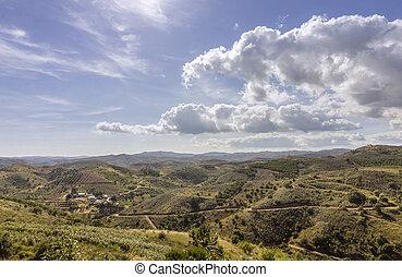 επαρχία , cloudscape , algarve , τοπίο , αγροτικός