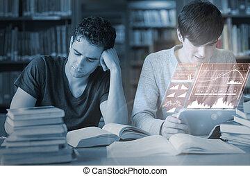 επεμβαίνω , φοιτητόκοσμος , συγκεντρωμένος , ακαταλαβίστικος , εργαζόμενος , πανεπιστήμιο , βιβλιοθήκη , μαζί