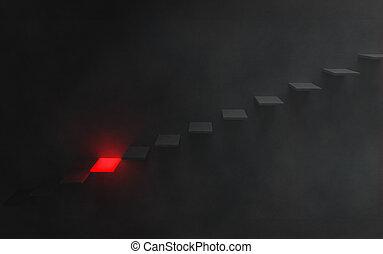 επικίνδυνος , κάτω , βήματα , εικόνα , σκοτεινιά
