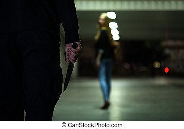 επικίνδυνος , μαχαίρι , άντραs