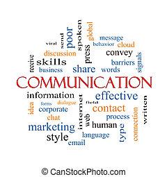 επικοινωνία , γενική ιδέα , λέξη , σύνεφο