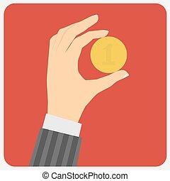 επινοώ. , χέρι , μικροβιοφορέας , illustration.