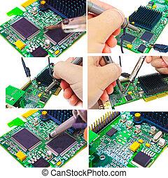 επισκευάζω , και , διαγνωστικός , επιστήμη των ηλεκτρονίων