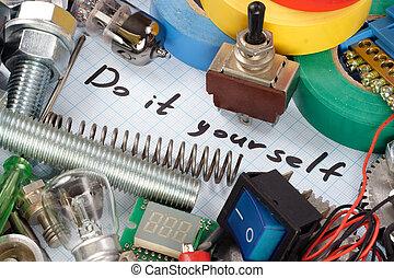 """επισκευάζω , """"do, - , αυτό , κομμάτια , yourself"""""""