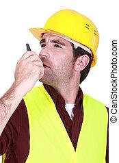 επιστάτης , δουλειά , ραδιόφωνο , αντιπρόσωπος , αποδέκτης , χρησιμοποιώνταs