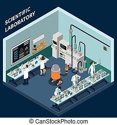 επιστήμη,  isometric, γενική ιδέα