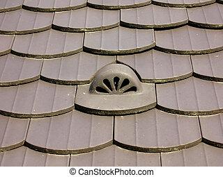 επιστρώνω με πλακάκια , οροφή