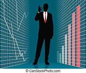 επιτυχής , επιχειρηματίας , περίγραμμα