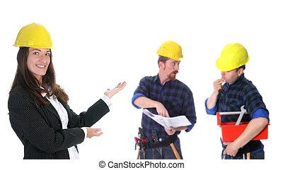 επιτυχής , επιχειρηματίαs γυναίκα , δουλευτής , δομή