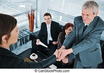 επιτυχής , συνέντευξη , δουλειά