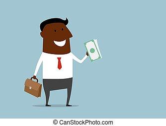 επιτυχής , χρήματα , δράξ , επιχειρηματίας