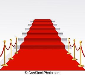επιτυχία , κλίμαξ , χαλί , βόλτα , πολύ σημαντικό πρόσωπο , φόντο , πολυτέλεια , φήμη , γιορτή αγώνας , κόκκινο , εορτάσιμος