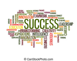 επιτυχία , λέξη , σύνεφο