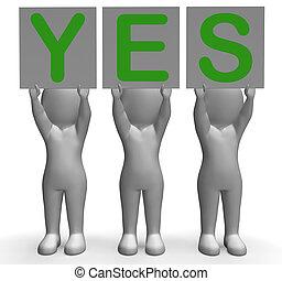 επιτυχία , positivity , έγκριση , ναι , σημαίες , αποδεικνύω...