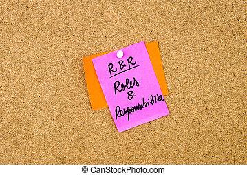 επιχείρηση , αντικείμενο ευθύνης , rr , ακρώνυμο , ρόλος