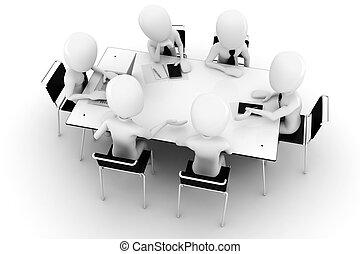 επιχείρηση , απομονωμένος , συνάντηση , άσπρο , άντραs , 3d