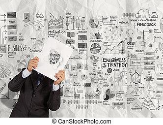 επιχείρηση , επιτυχία , δείχνω , καλύπτω , χέρι , βιβλίο , μαύρο , επιχειρηματίας