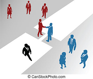 επιχείρηση , εταιρεία , εργάζομαι αρμονικά με , ενώνω , ένωση επιχειρήσεων , γέφυρα , 2