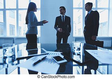 επιχείρηση , συζήτηση